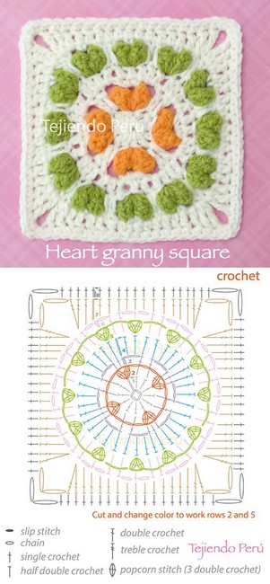 Colores de dulce para tus grannys square