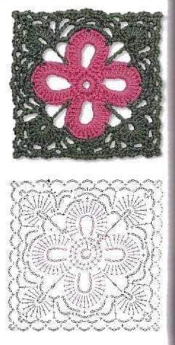 esquemas y muestras de grannys en crochet