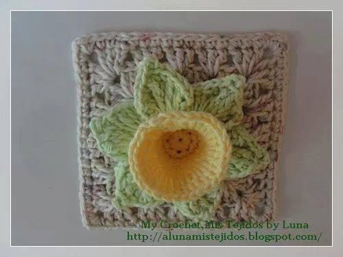 ¿Un jacinto en un granny square? ¡Claro que si!