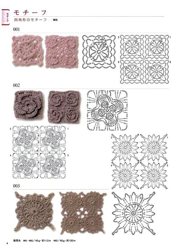 gráficos grannys crochet