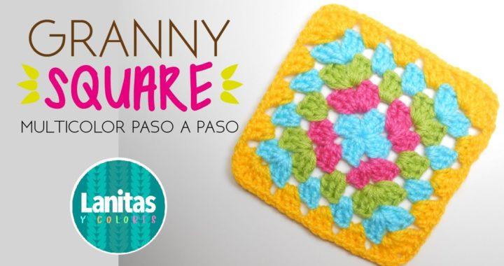 🌸Cómo tejer GRANNY SQUARE básico a crochet | tutorial PASO A PASO 🌸