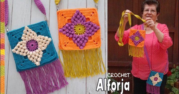 ALFORJA con granny Juliana de 3 colores tejida a crochet 🌸 / Tejiendo Perú