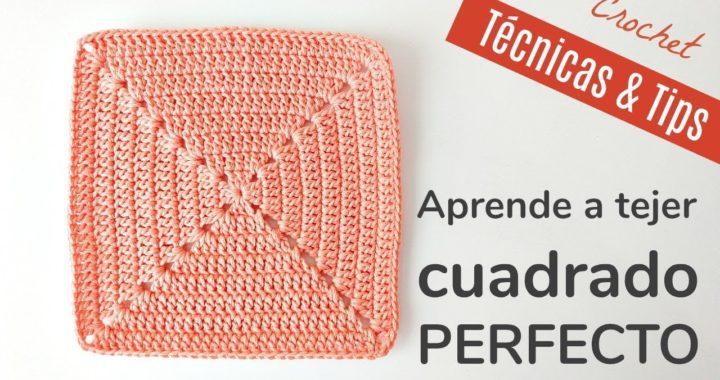 APRENDE A TEJER UN CUADRADO A CROCHET ¡PERFECTO! | HANDWORK DIY
