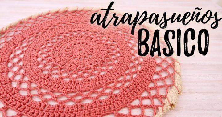 ATRAPASUEÑOS BÁSICO A CROCHET   #JardinDeAtrapasueños   Ahuyama Crochet