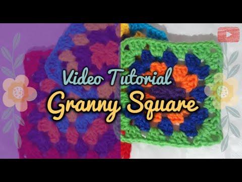 Aprende a tejer un Granny Square | Crochet Básico ♡ Paso a paso | How to crochet a granny square