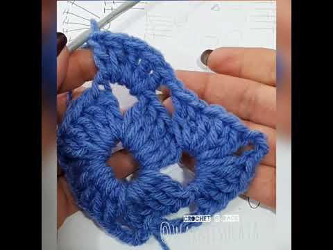 Aprender a leer patrones para principiantes, cuadrado, Granny tejido crochet ganchillo