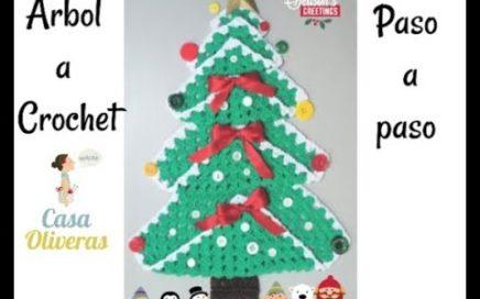 Arbol de navidad fácil a crochet (Granny Square)