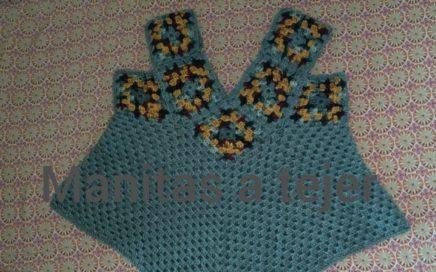 Blusa con Granny fácil a Crochet