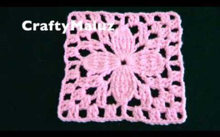 COMO HACER CUADRO TEJIDO MUY FÁCIL   Crochet Granny Square   Cuadro tejido paso a paso