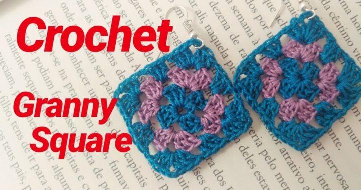 🌈COMO HACER UN GRANNY SQUARE BASICO EN CROCHET PASO A PASO (How to crochet basic granny square)🌈