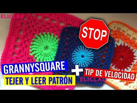 COMO TEJER un GRANNYSQUARE | Leer PATRON | Tip de Velocidad | EliClau