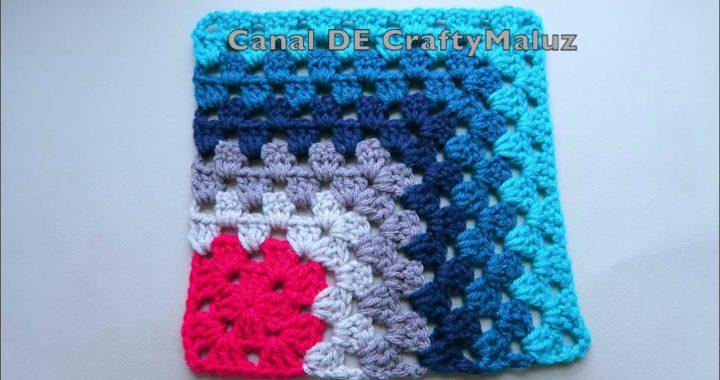 CROCHET TUTORIAL Crochet granny square muy fácil de hacer Cuadro tejido Motivo de crochet