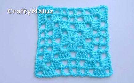 CROCHET TUTORIAL : Cuadro Tejido Muy Fácil para Hacer Diferentes Proyectos | Aplicación a crochet