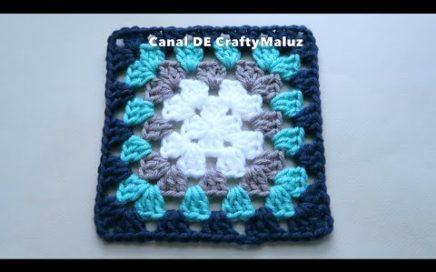 CROCHET TUTORIAL 👍 Cuadro a crochet básico ( Basic Granny Square Crochet Tutorial)