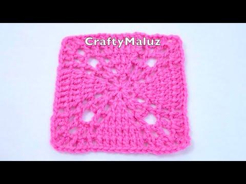 CROCHET TUTORIAL👉 Granny Square a Crochet 👍Aplicación de Crochet Muy fácil👍