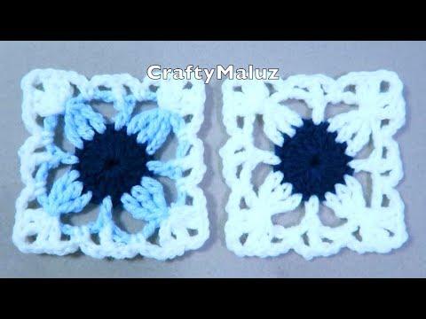 CROCHET TUTORIAL 👉Mini Cuadro a crochet Aplicación de crochet 👍granny squares a crochet muy fácil