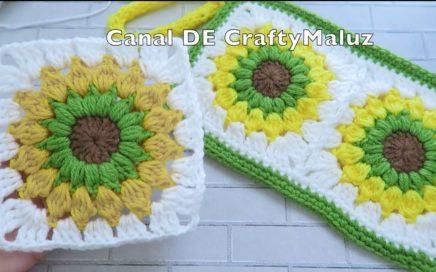 CROCHET TUTORIAL Starburst Granny Square   Cuadro a crochet paso paso