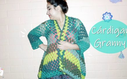 Cárdigan granny a crochet fácil