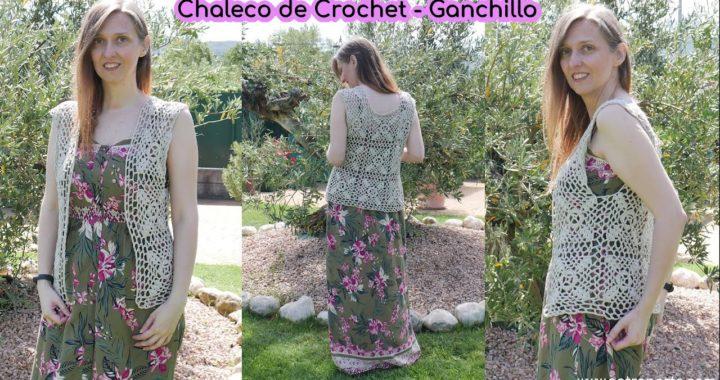 Chaleco Granny Square de Crochet - Ganchillo Paso a Paso Fácil