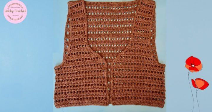 Chaleco básico a crochet paso a paso (version 2).