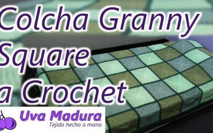 Colcha Cubrecama Granny Square Tejido a Crochet Ganchillo Paso a Paso