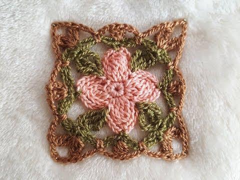 Como Hacer Granny Square tejido a crochet - cuadros a crochet ideal para blusas, mantas, manteles