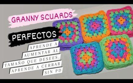 💫 Como Tejer a crochet Un Granny Square. Como Aumentar Y + TRUCOS