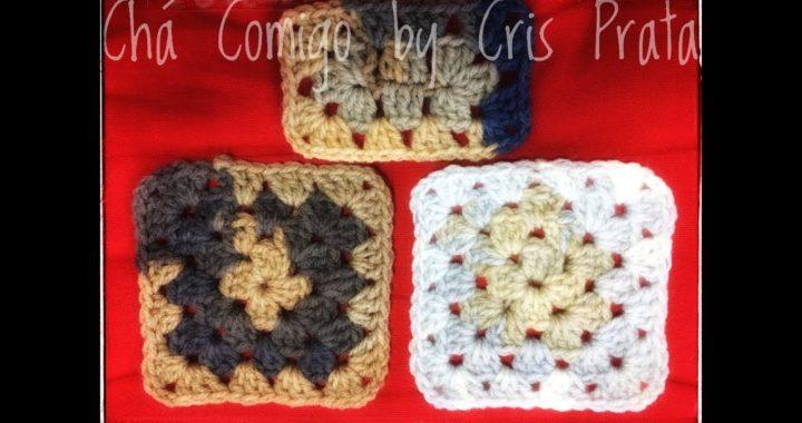 Como fazer quadrado da vovó, granny square ou square de crochê fácil - diy