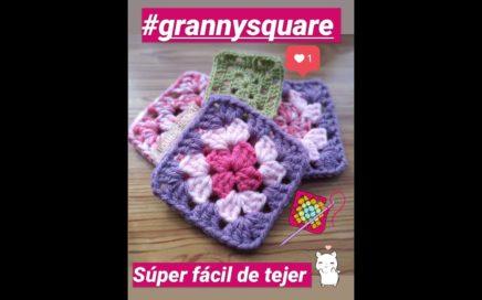 Como hacer Cuadrados GRANNY a crochet  paso a paso #1 / How to crochet Granny square (principiantes)