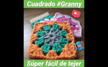 Como hacer cuadrados GRANNY a crochet #2 / How to crochet GRANNY SQUARE (ideal principiantes)