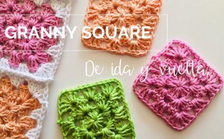Cómo hacer granny square paso a paso tutorial.