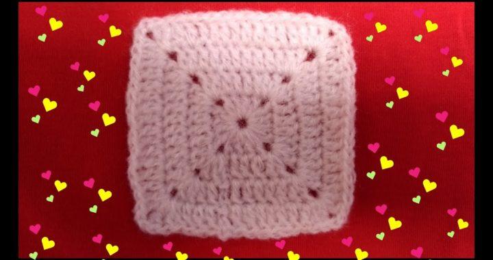 Cómo hacer un cuadrado básico a crochet