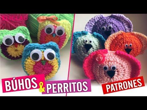 Cómo tejer BÚHOS Y PERRITOS a Crochet + PATRONES | Muy Fácil | EliClau