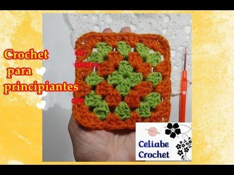 🤩🌻😃🌻Cómo tejer GRANNY SQUARE básico a crochet GANCHILLO tutorial PASO A PASO
