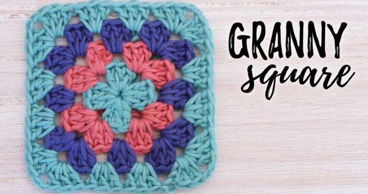 Cómo tejer GRANNY SQUARE básico a crochet | tutorial PASO A PASO | Ahuyama Crochet