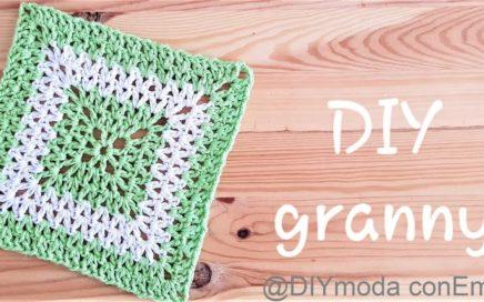 Como tejer Granny cuadrado en punto V a crochet paso a paso