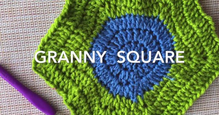 Como tejer el GRANNY SQUARE basico a crochet