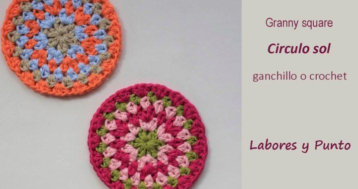 Como tejer el granny square sol a ganchillo o crochet- Labores y Punto
