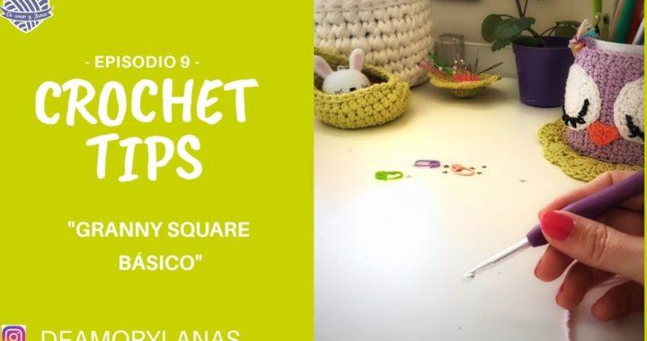 Cómo tejer un Granny Square Básico Fácil y Rápido (Cuadradito de la abuela)