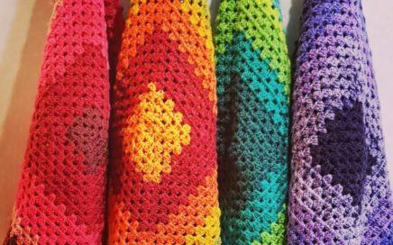 Cómo tejer una Manta crochet fácil y rápida, bebé estilo granny square