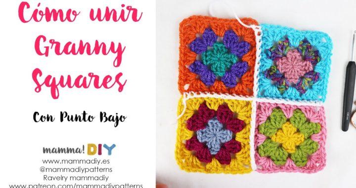Cómo unir Granny Squares con Punto Bajo por Cecilia Losada de Mamma Do It Yourself #grannysquare