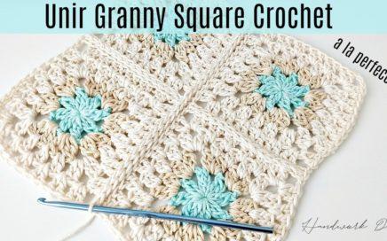 Cómo unir granny square crochet de manera perfecta