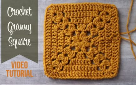 Crochet Granny Square Pattern Tutorial