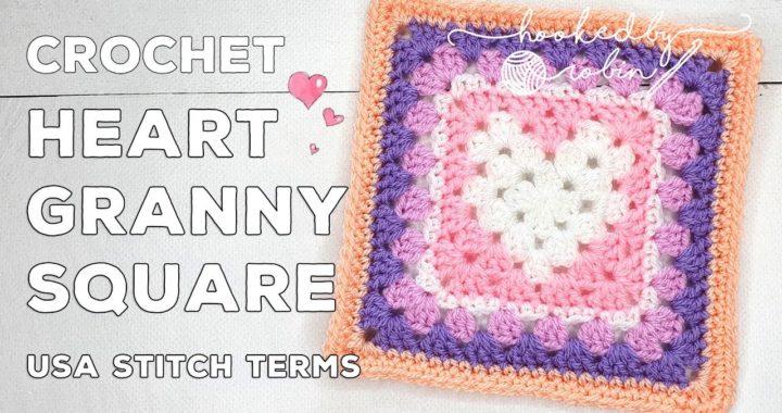 Crochet Heart Granny Square 💕 | Unicorn Dreams Blanket CAL | Crochet Square Tutorial