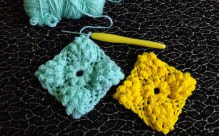 Crochet Popcorn Granny Square Tutorial