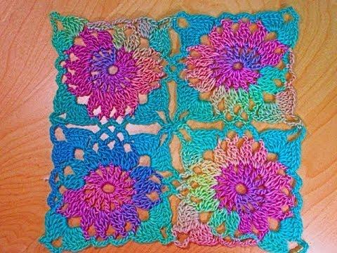 Crochet cuadrado o granny squares bien facil