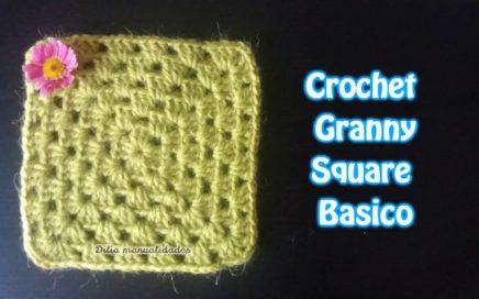 Cuadrado 6 Granny básico / Crochet muy facil