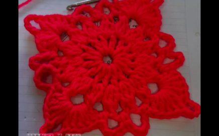 Cuadrado, aprender a tejer y leer patrones para principiantes, tejido crochet ganchillo