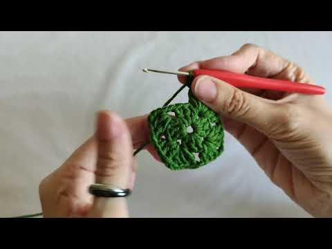 Cuadrado básico de la abuela a crochet ganchillo