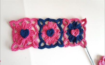 Cuadro a crochet - tejido -  facil y rapido paso a paso  - Granny Square a crochet / punto fantasia